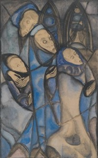 beweinung (design for stained glass) by margret bilger-breustedt