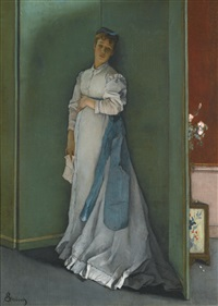 l'emotionnée by alfred stevens