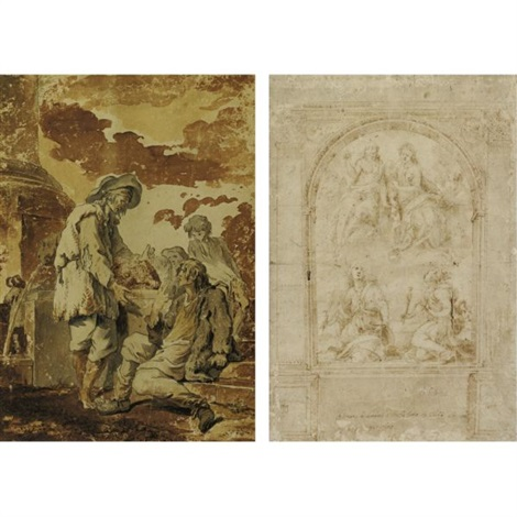 design for an altar christ in glory by domenico beccafumi