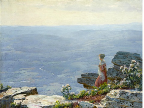 haze in the valley by charles courtney curran