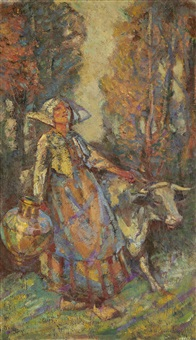 the dairymaid by john henry amshewitz