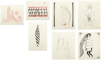 la réparation (set of 7) by louise bourgeois