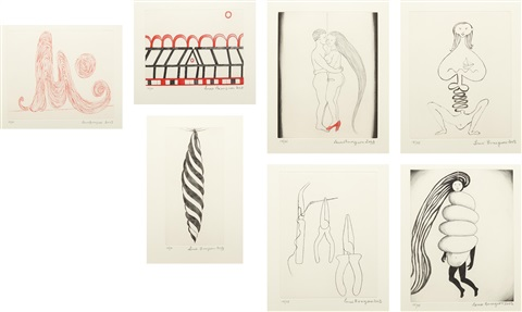 la réparation set of 7 by louise bourgeois