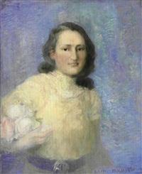 portrait de jeune femme by pavel dmitrievic smarov
