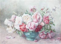 roses dans un vase by françois rivoire