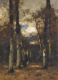 forest at fontainebleau by lászló paál