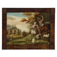 peaceable kingdom of the banner by edward hicks