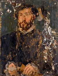 portrait de gentilhomme tenant une lettre dans sa main by ambrosius benson