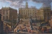 roma, piazza del campidoglio by salvatore colonelli-sciarra