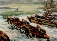 boat races on the st. lawrence during the quebec winter carnival by george menendez rae