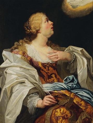 portrait de femme by theodor van thulden