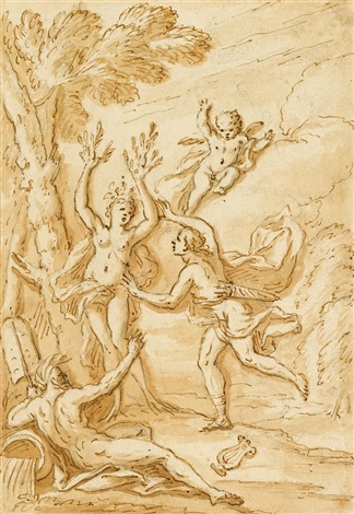 apollo and daphne and classical scene 2 works by sir james thornhill