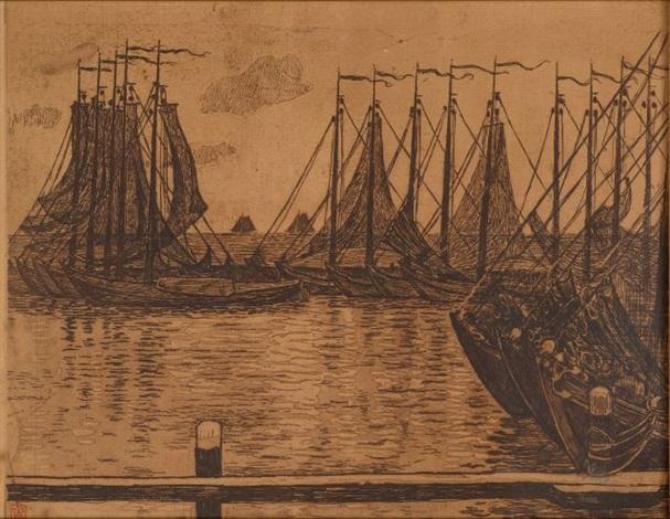 flottille de pêche by théo van rysselberghe