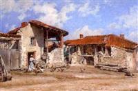 scène de basse cour à fontannes by alfred renaudin