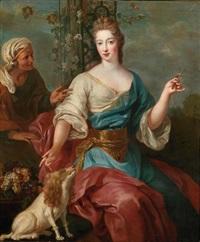 portrait d'une princesse de lorraine sous les traits de pomone by pierre gobert