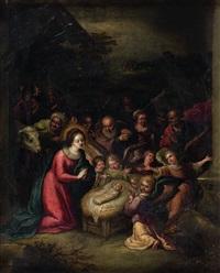 l'adoration de l'enfant jésus by cornelis de baeilleur