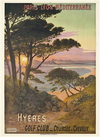 hyères, golf club by frederic hugo d' alesi