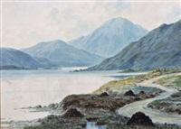 lake and mountain landscape by douglas alexander