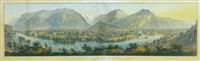 panorama de interlaken et unterseen - prise de la goldeg by rudolf huber