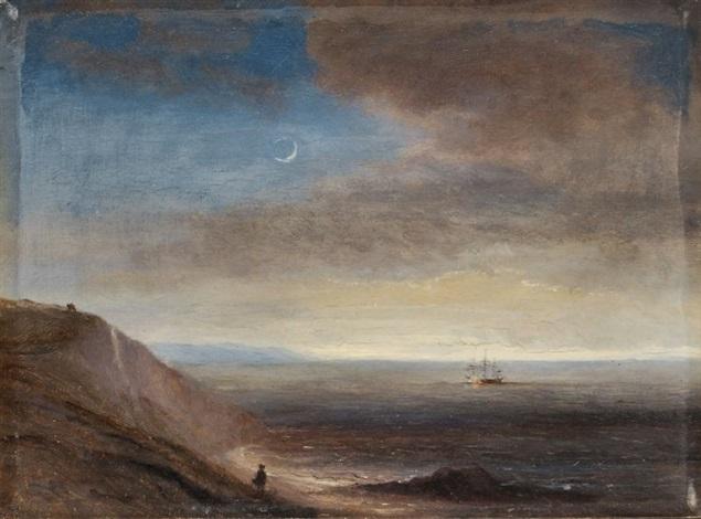 steilküste im mondschein by thomas fearnley
