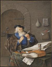 gelehrter im studierzimmer by joachim henne