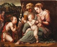 la sainte famille avec sainte anne et saint jean baptiste by giorgio vasari