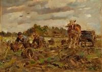 farmers on the land by erasmus bernhard van dulmen krumpelman