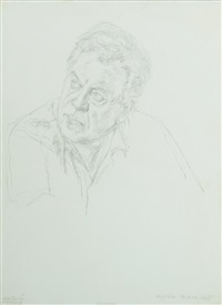 portrait of teddy kollek by avigdor arikha