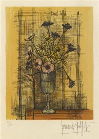 bouquet de marguerites et anémones by bernard buffet