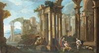 bergers dans des ruines by pietro francesco garoli