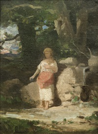 girl at the source by wojciech gerson