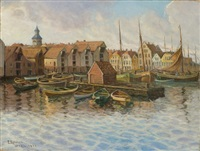 from stavanger harbour (study) by per gjemre