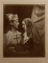 sir galahad and the pale nun by julia margaret cameron