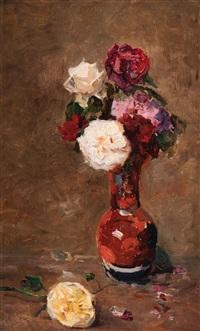 roses in a vase by paul joseph constantin gabriël