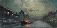 notturno sul naviglio by ivan karpov