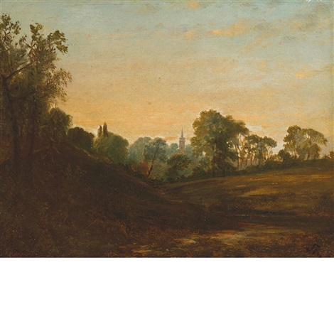 church at hampstead by john frederick kensett