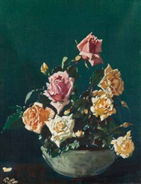 still life with roses by robert gwelo goodman