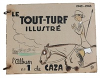le tout turf illustré (album w/10 works) by caza