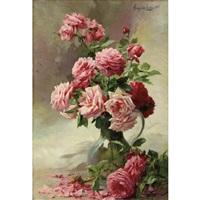 vase de roses by albert tibule furcy de lavault
