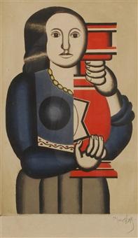 femme à la cruche (engraved by francois villon) by fernand léger