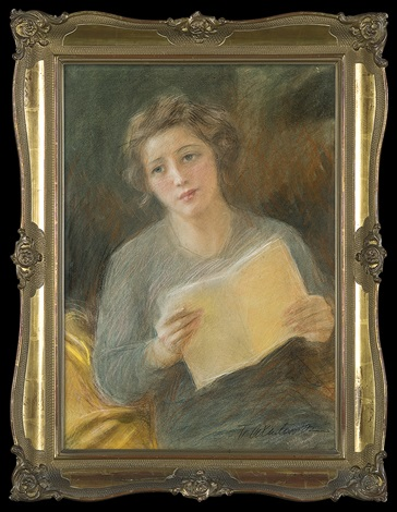 portrait of a young woman by teodor axentowicz