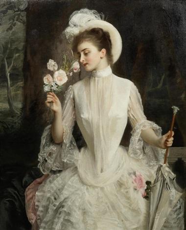 An elegant bouquet by Gustave Jean Jacquet on artnet