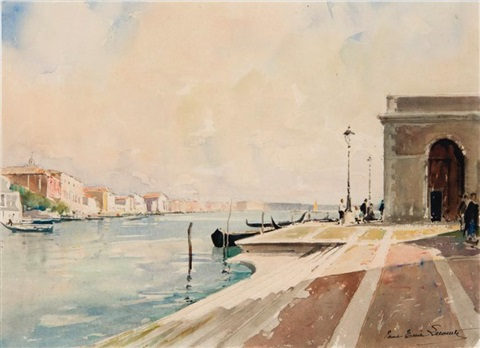venise le grand canal by paul emile lecomte
