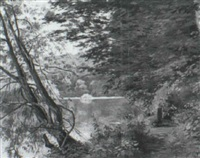 paysage animé by lucien charles justin quintard