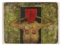 máscara roja, 1969 by rufino tamayo