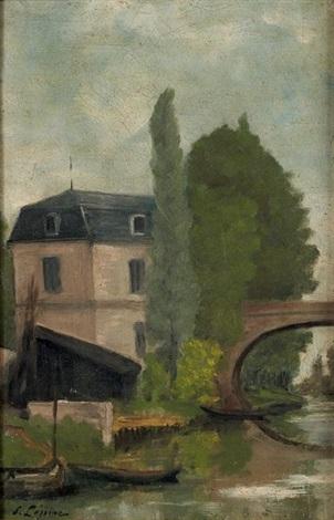 rivière à pontoise by stanislas lépine