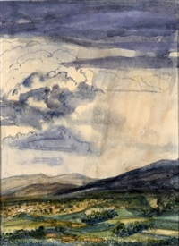 rain over taos by helen greene blumenschein
