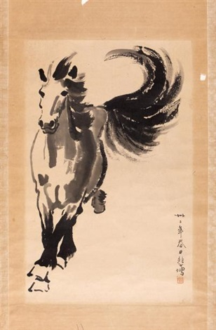 cheval au galop by xu beihong