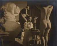 the sculptor andré roder (1900-1959), vienna by rudolf koppitz