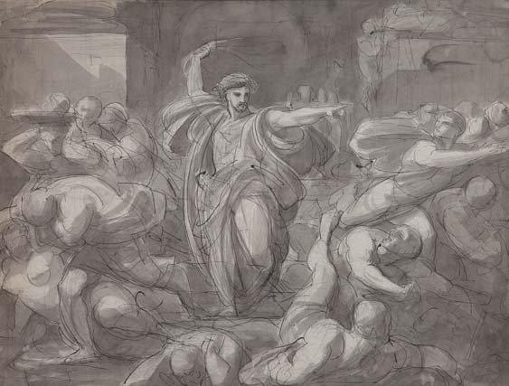 le christ chassant les marchands du temple by vincenzo camuccini